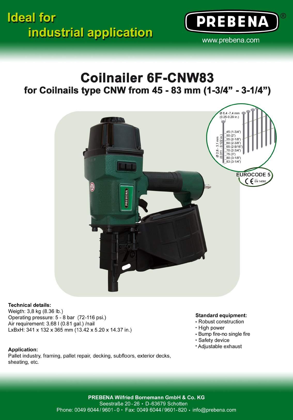 6F-CNW83 цвяхозабивний пневмопістолет