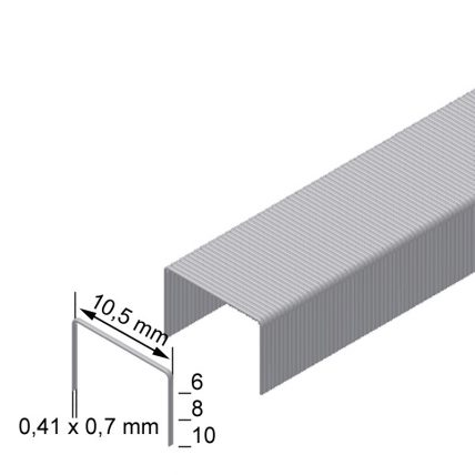 Скоба оббивочна типу VZ