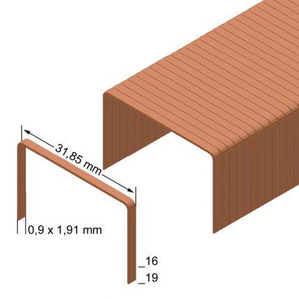 Скоба пакувальна типу R